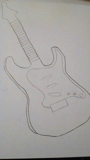 How to draw a guitar