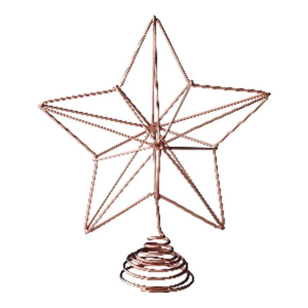 Copper Star Christmas Tree Topper ($992) ❤ liked on Polyvore