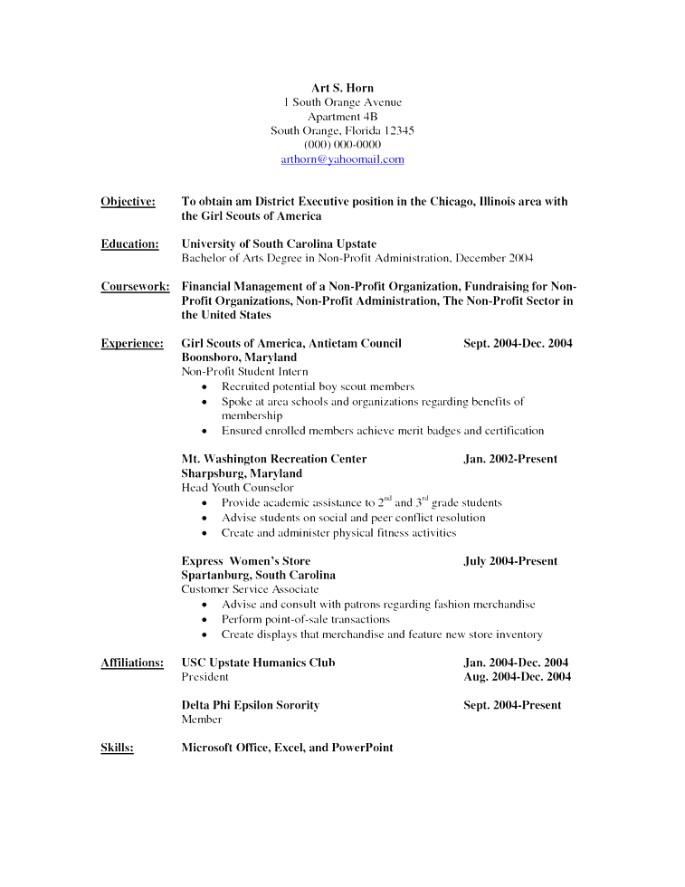 Resume Templates Non Chronological ResumeTemplates