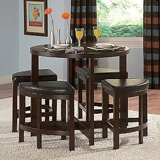 Oxford Creek  5 Piece Counter Height Pub Set In Brown Cherry Finish |  Furniture | Pinterest | Pub Set And Cherry Finish