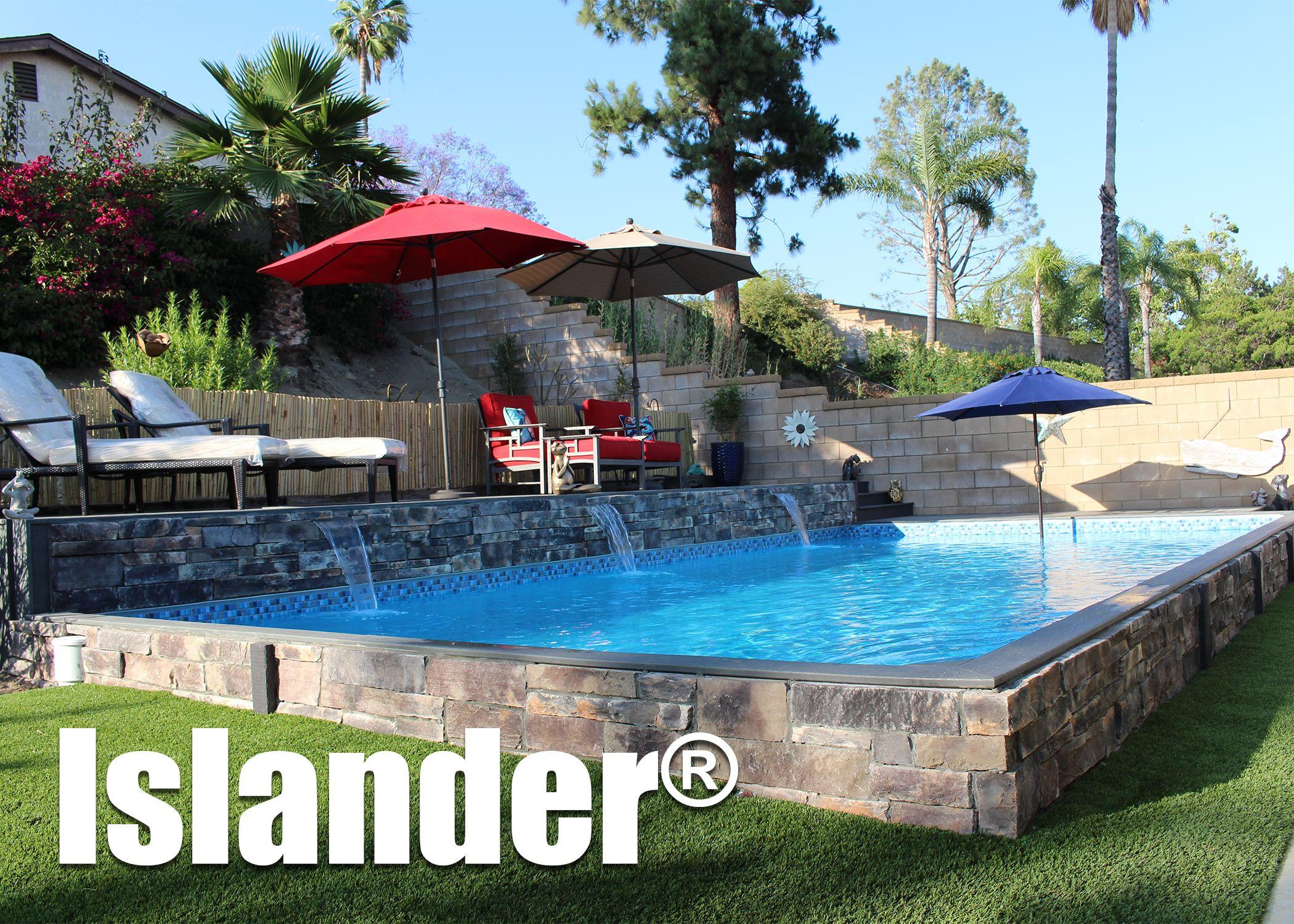 Pin By Secard Pools Spas On Islander Pool By Secard Pools Islander Pools Backyard Pool