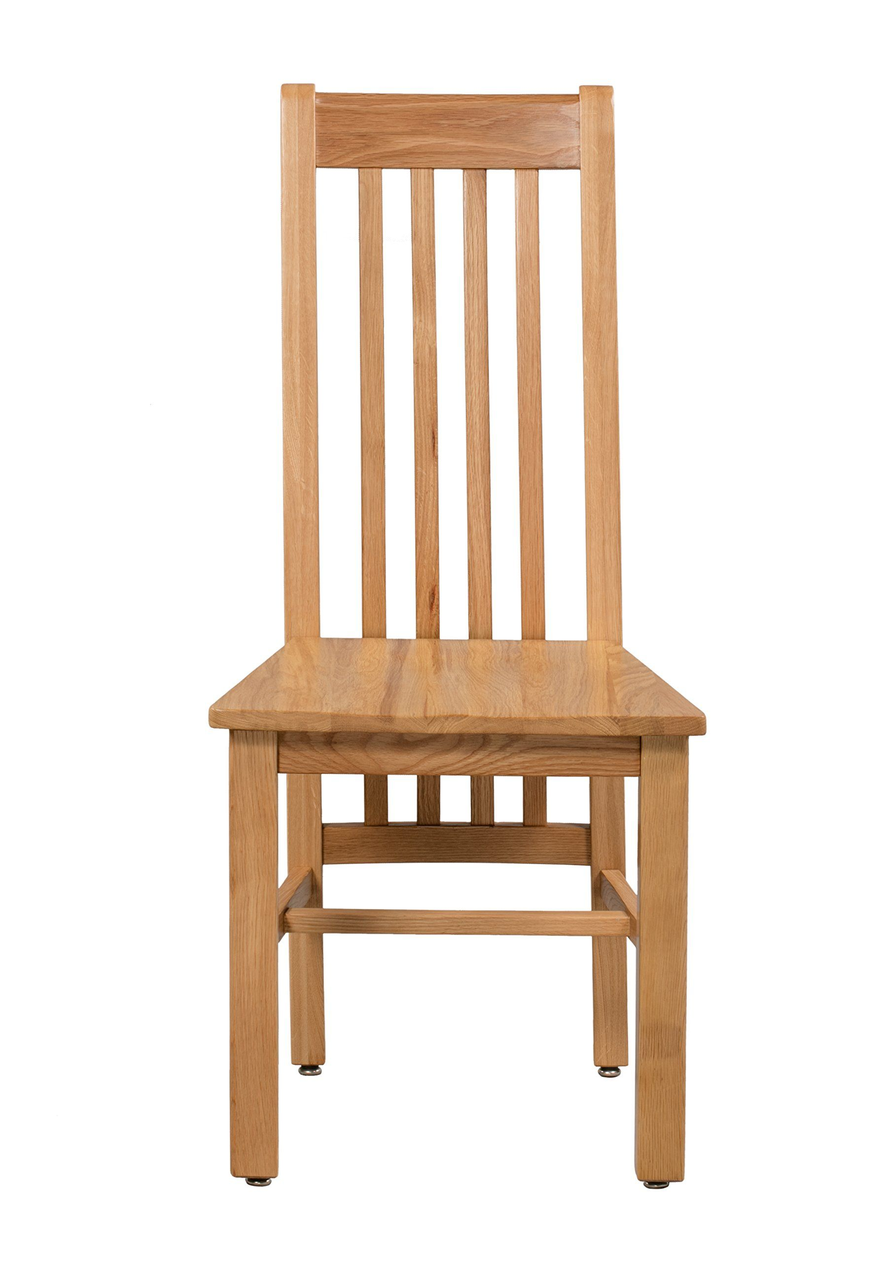 Trithi Furniture Hillsboro Real Solid Oak Dining Chair With Wooden