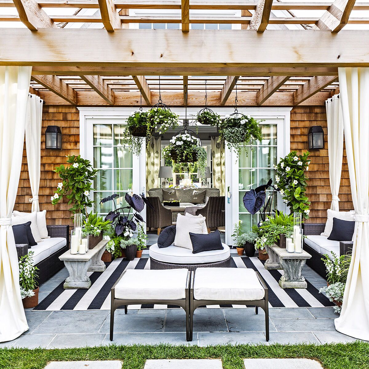 Black And White Outdoor Space By Caleb Anderson Design