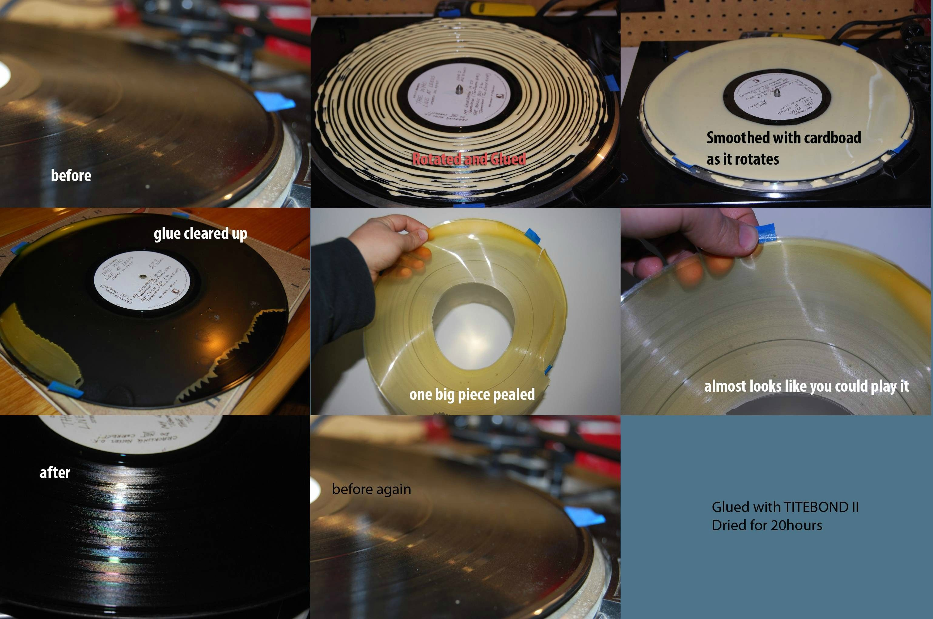 Glue Record Cleaning Clean Vinyl Records Record Cleaner Vinyl Records