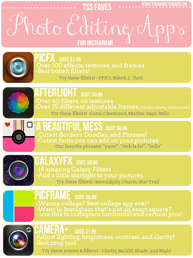 The Sorority Secrets 6 Photo Editing Apps You Need to