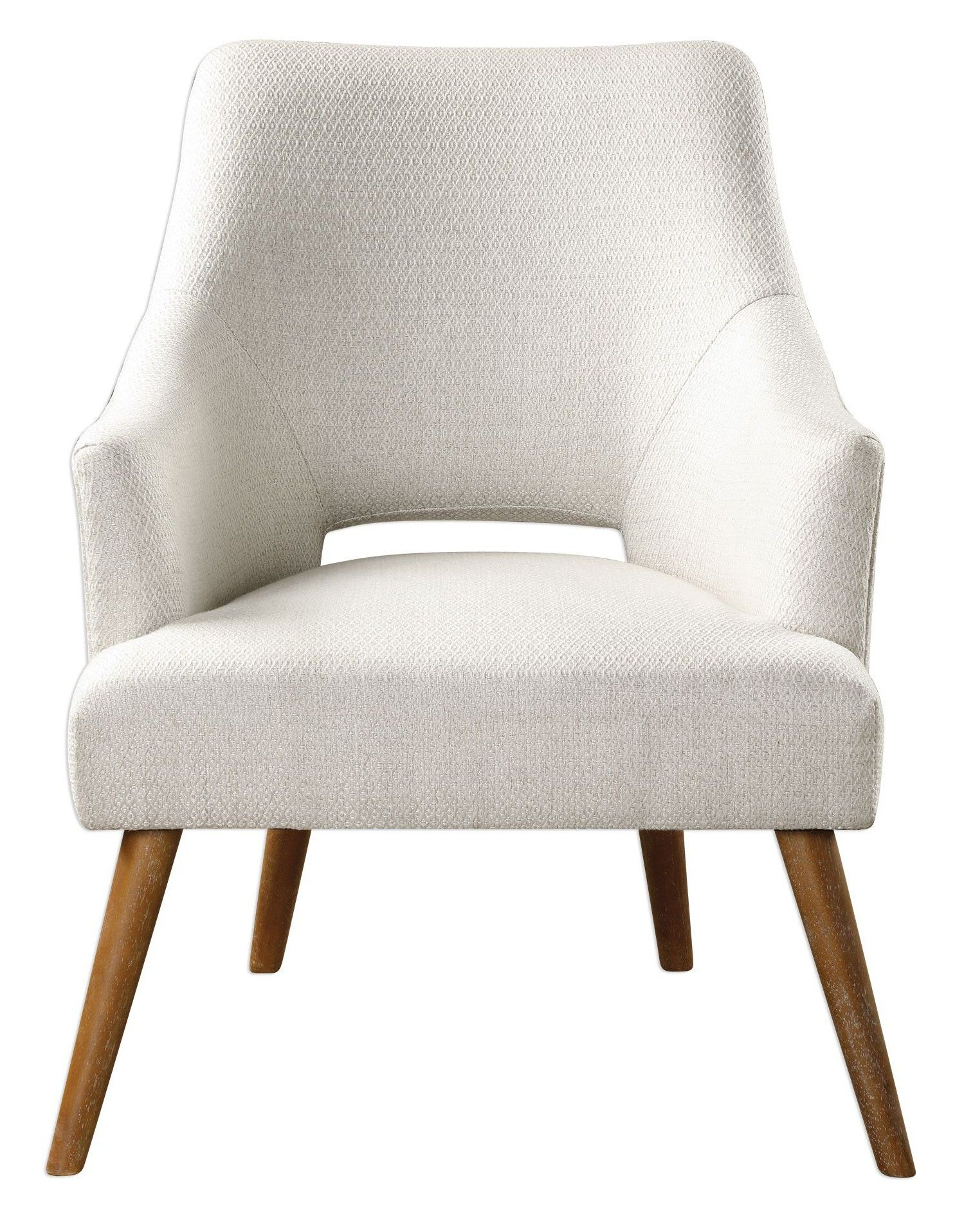Ordinaire A Staple For Any Mid Century Modern Living Room, The Althea Chair Features  Tapered Wood Legs, A High Back Design And Clean White Upholstery.