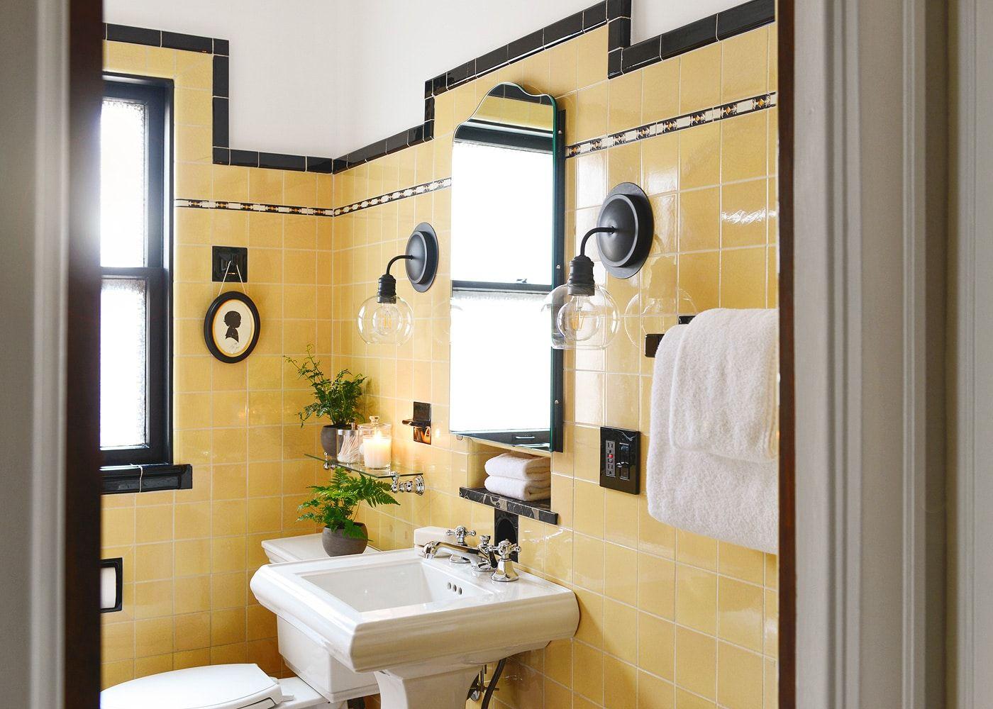 How To Refresh A Vintage Bathroom Keep The Charm Ii Of Ii Yellow Bathrooms Vintage Bathrooms Vintage Bathroom