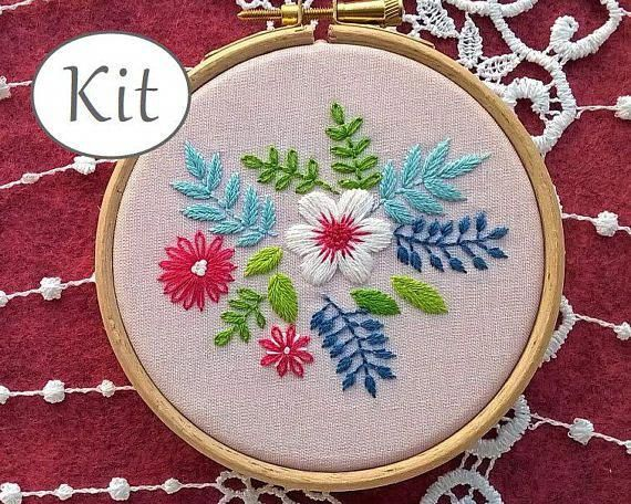 Hand Embroidery Kit Embroidery Design Beginner Kit Modern