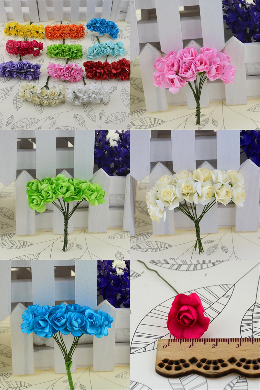 Visit To Buy 12pcs Lot Mini Paper Rose Handmake Artificial Flower