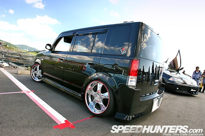 The Toyota Scion Bb This Particular One Sporting A Pretty Spot On Stance City Car Toyota Scion Xb Kei Car