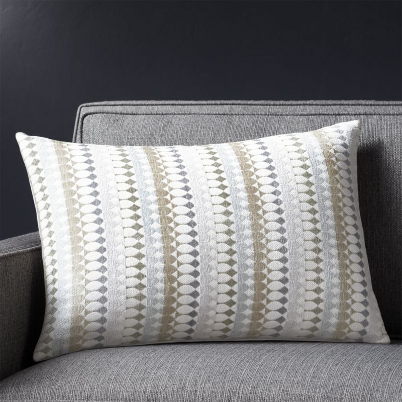 Fionn 40x40 Pillow With FeatherDown Insert Crate And Barrel New Crate And Barrel Throw Pillow Inserts