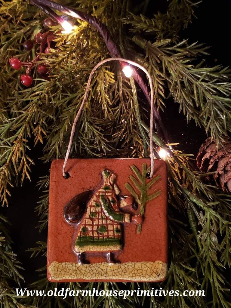 Shpc17 Shooner American Redware Santa Christmas Ornament Made In Usa In 2020 How To Make Ornaments Christmas Ornaments Ornaments