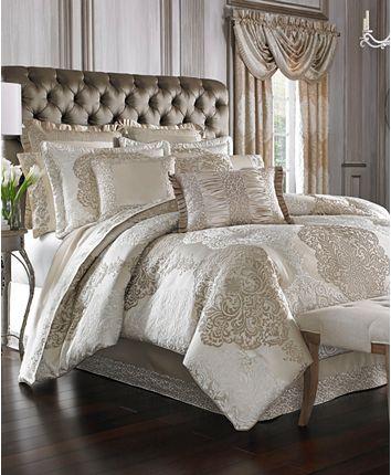 Photo of J Queen New York La Scala Queen 4-Pc. Comforter Set Bedding