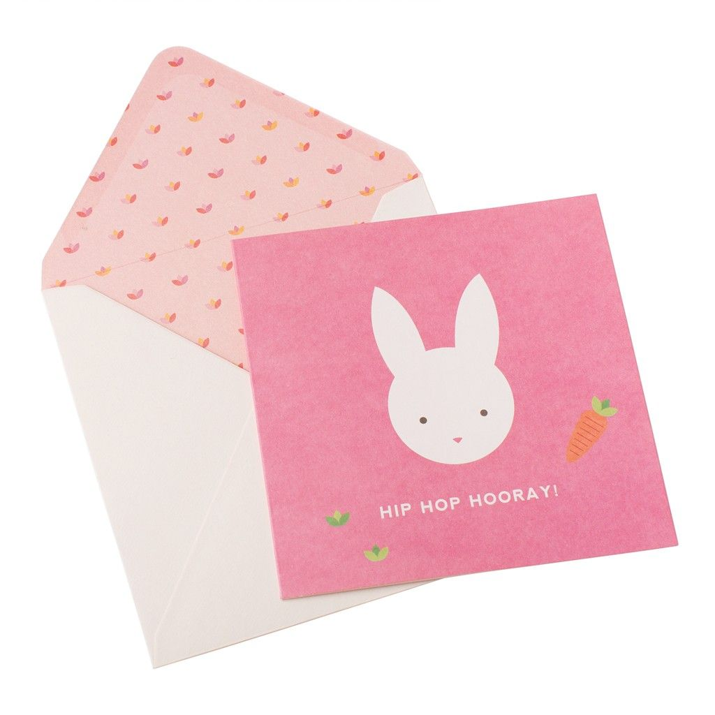 GREETING CARD HIP HOP HOORAY RABBIT Stationary Pinterest Hip