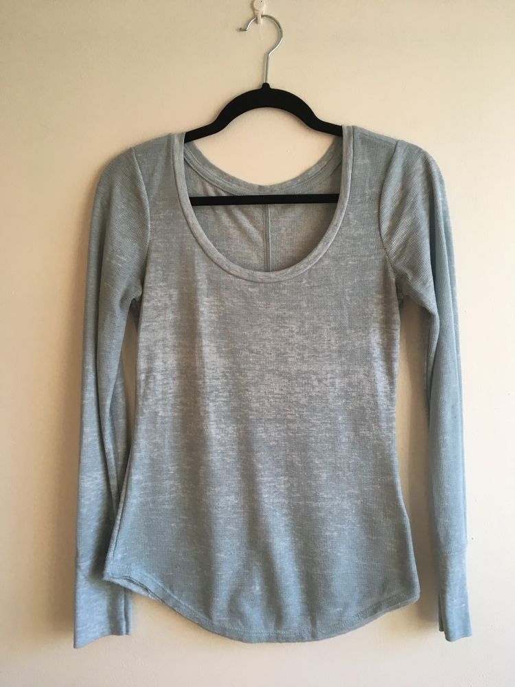 f26a7cfc Urban Outfitters BDG waffle knit henley long sleeve top light blue #fashion  #clothing #shoes #accessories #womensclothing #tops (ebay link)