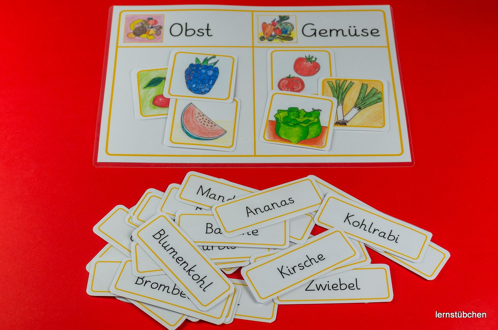 Lernstübchen: Obst oder Gemüse