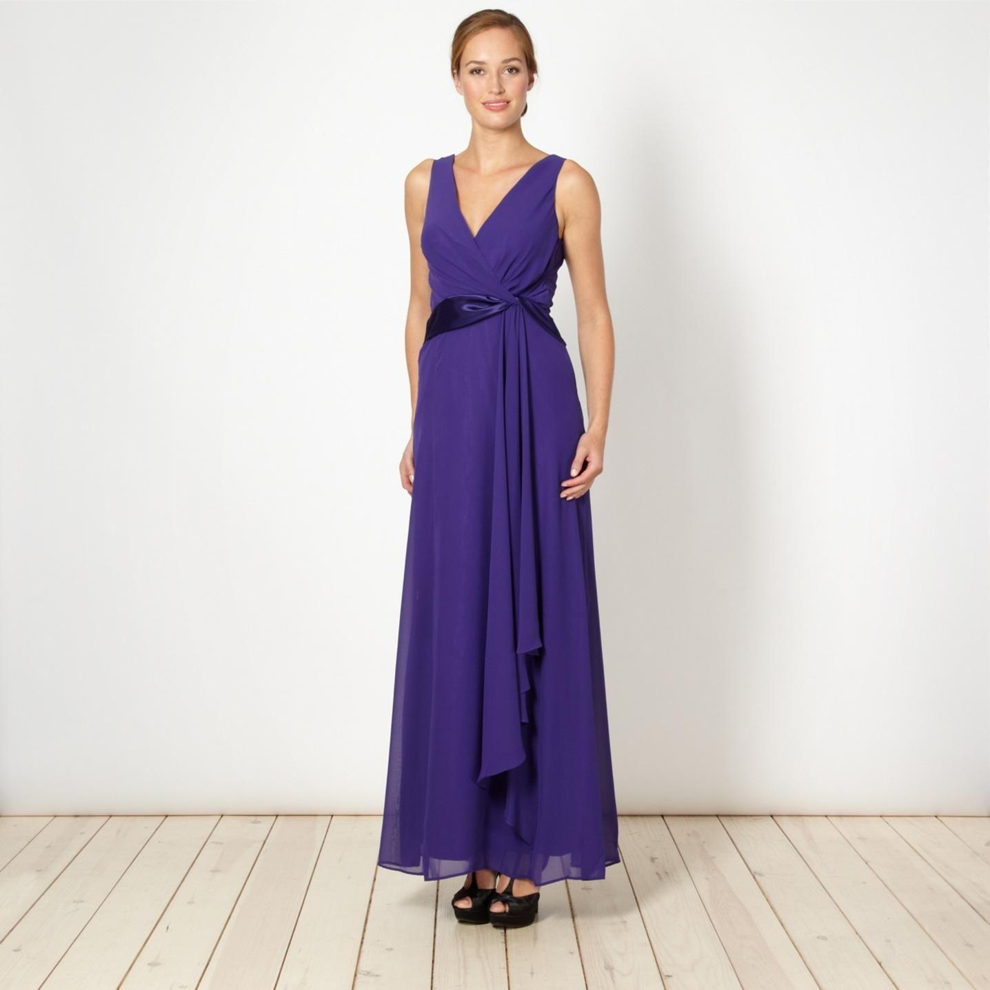 purple-satin-twist-front-maxi-dress- | Purple Maxi Dress | Pinterest ...