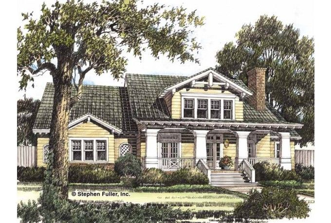 Craftsman house plan side entry garage 3 bed 2 bath for Craftsman house plans with side entry garage