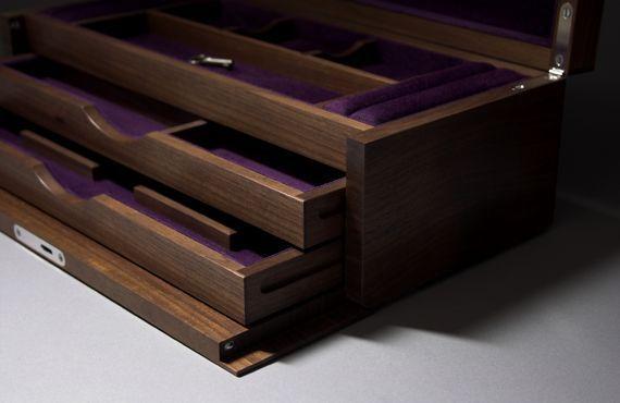 Hawthorne - Walnut Secret Drawers - 350x160x120