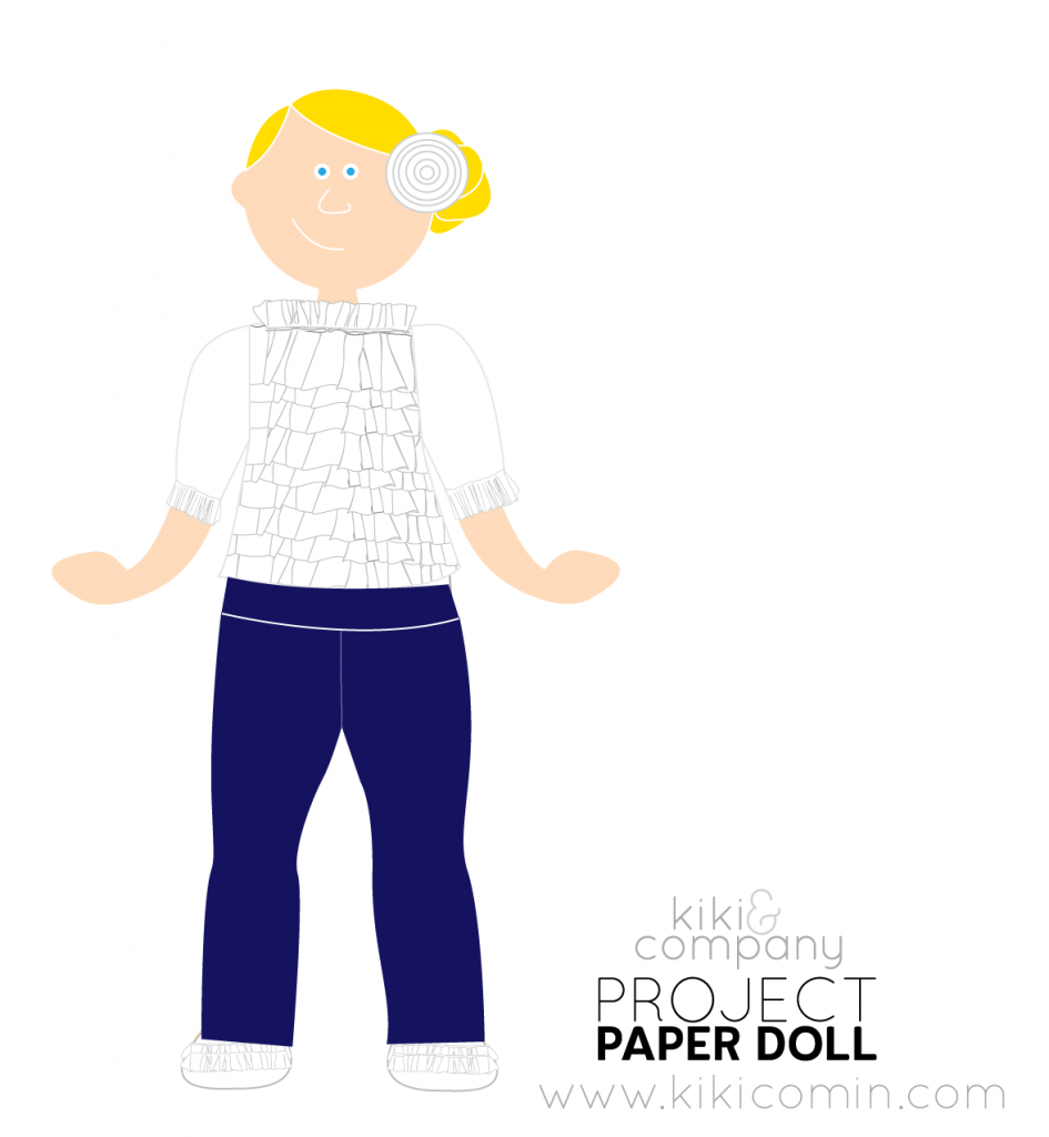 Free Paper Doll Series. Upcycled Outfit. #FreePrintable