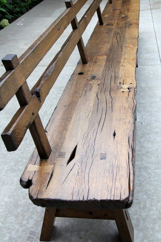 live edge bench with back Google Search Wood bench