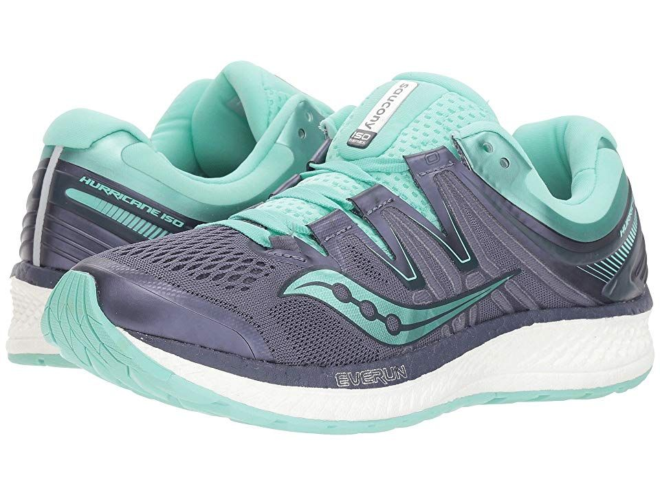 Saucony Hurricane ISO 4 Women's Running Shoes GreyAqua