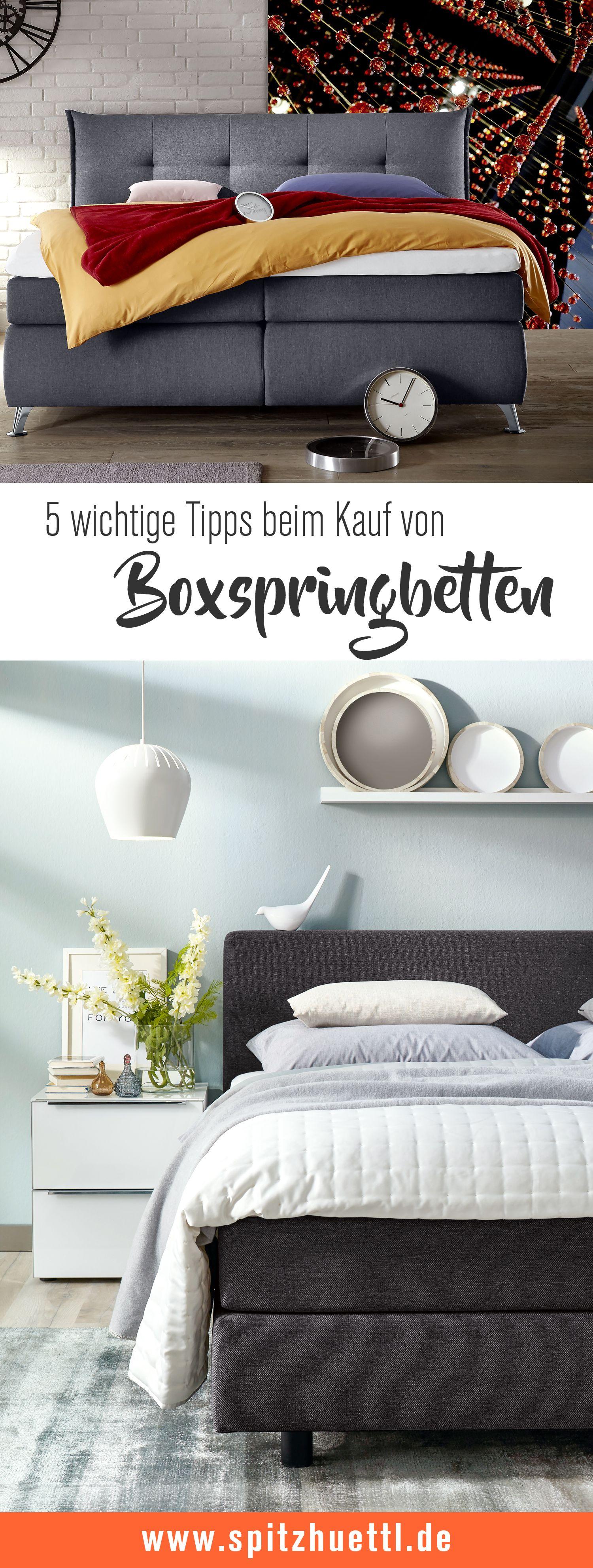 Boxspringbetten Tipps Zum Kauf Boxspringbett Bett Und