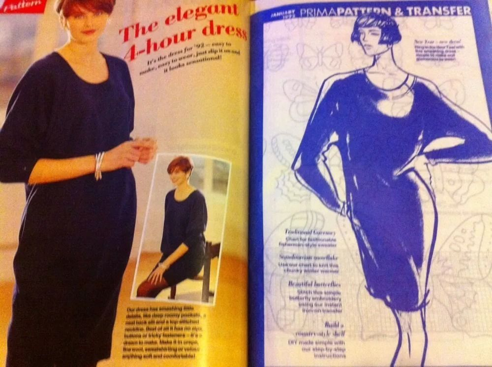 Prima Magazine Womens Elegant 4 Hour Dress Sewing Pattern Recipes