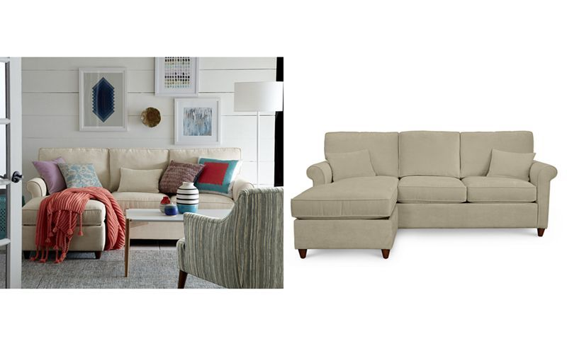 the best attitude 5a44d 81d1e Lidia 82 Fabric 2-Pc. Reversible Chaise Sectional Sofa with ...