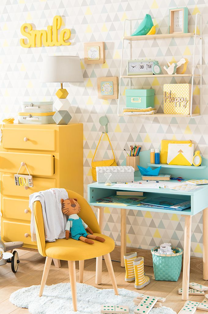 Deko trend mint and lemon aufwachen kinder maisons du monde for the home pinterest - Kinderzimmer deko mint ...