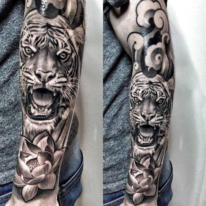 Mens Sleeve Tattoos Ideas In 2020 Japanese Tiger Tattoo Tattoo