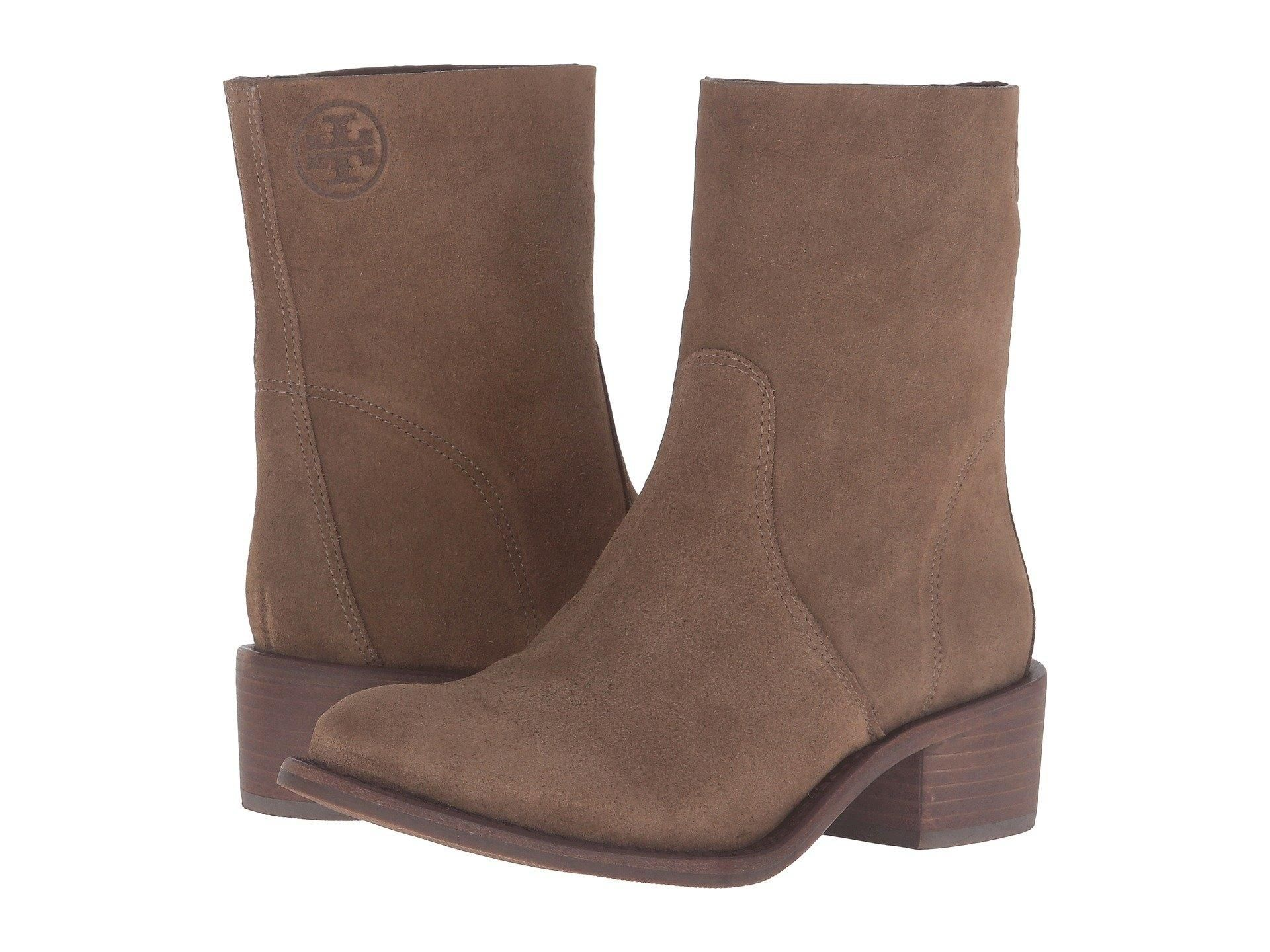 c8c33e7cfc71b2 Tory Burch Siena Women s Pull On Short 9.5 M River Rock - Brown Suede Boots.  Get the must-have boots of this season! These Tory Burch Siena Women s Pull  On ...