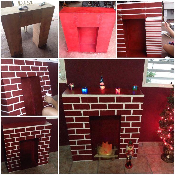 Vari foto tutorial un caminetto fatto da te con for Finto camino natalizio