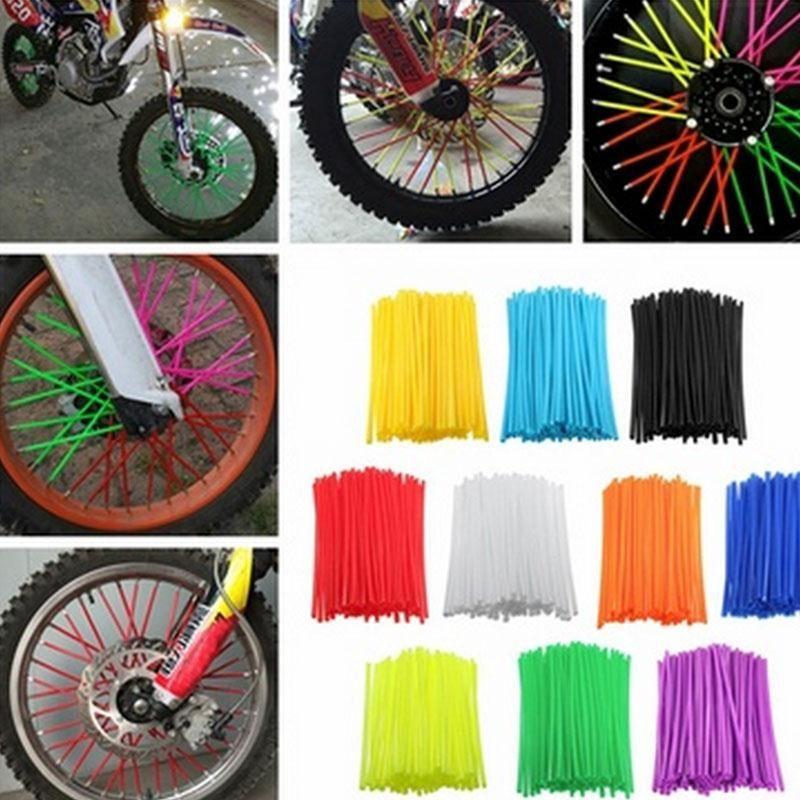 801588016a68d 72Pcs Motorcycle Dirt Bike Wheel Rim Spoke Covers Wrap Decor ...