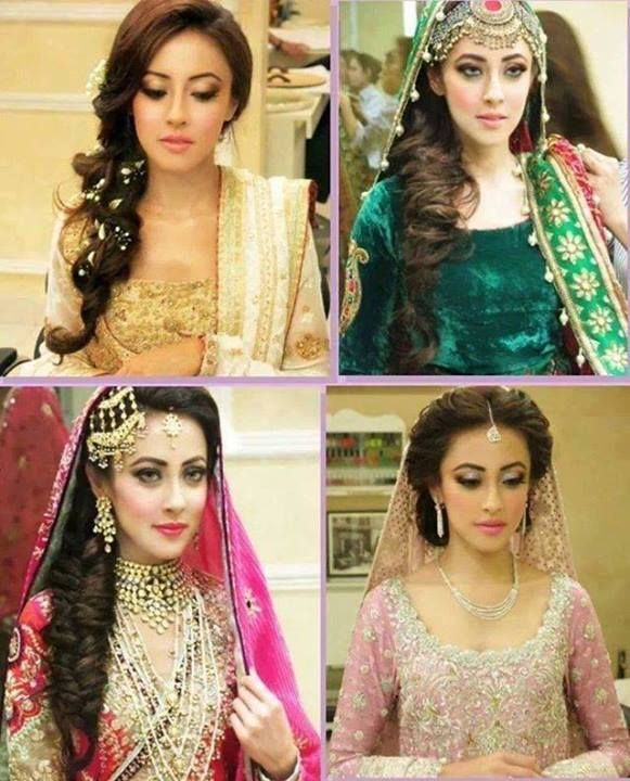 Latest Pakistani Bridal Wedding And Party Hairstyles