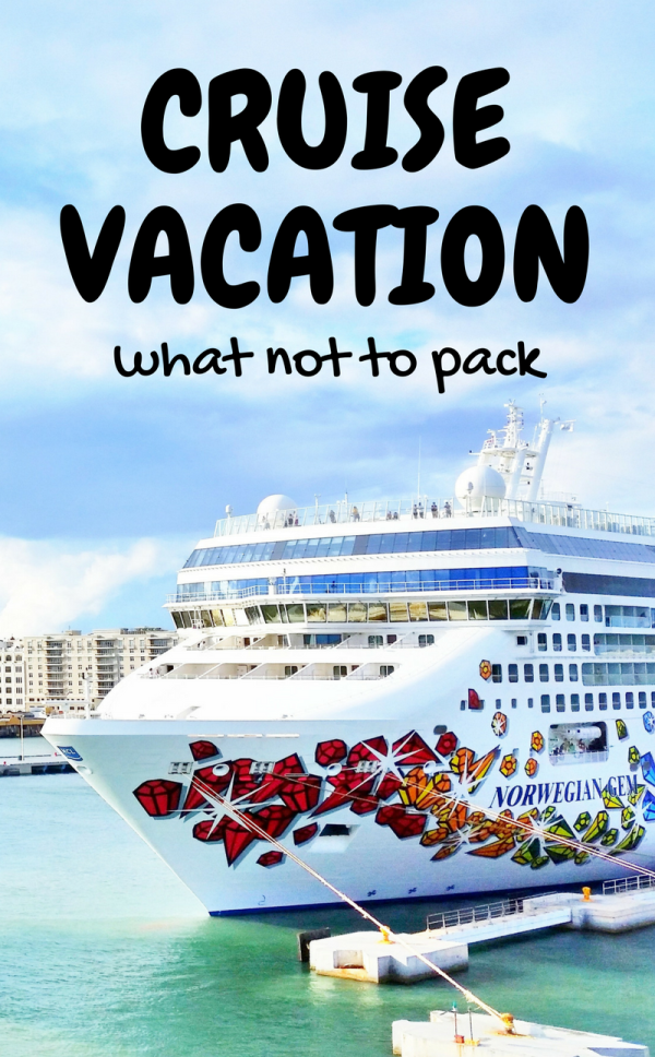 Cruise packing tips: As you're packing for a cruise vacation and making a checklist of planning, things to do, what to pack, and thinking about outfits, don't bring anything not allowed on a cruise ship! List of policies for best cruise lines, like Carnival, Royal Caribbean, Princess, Disney, and Norwegian, which makes a good reference if your Caribbean cruise is travel for afirst time cruise. You don't want to get upset on embarkation day when security takes away a prohibited item!