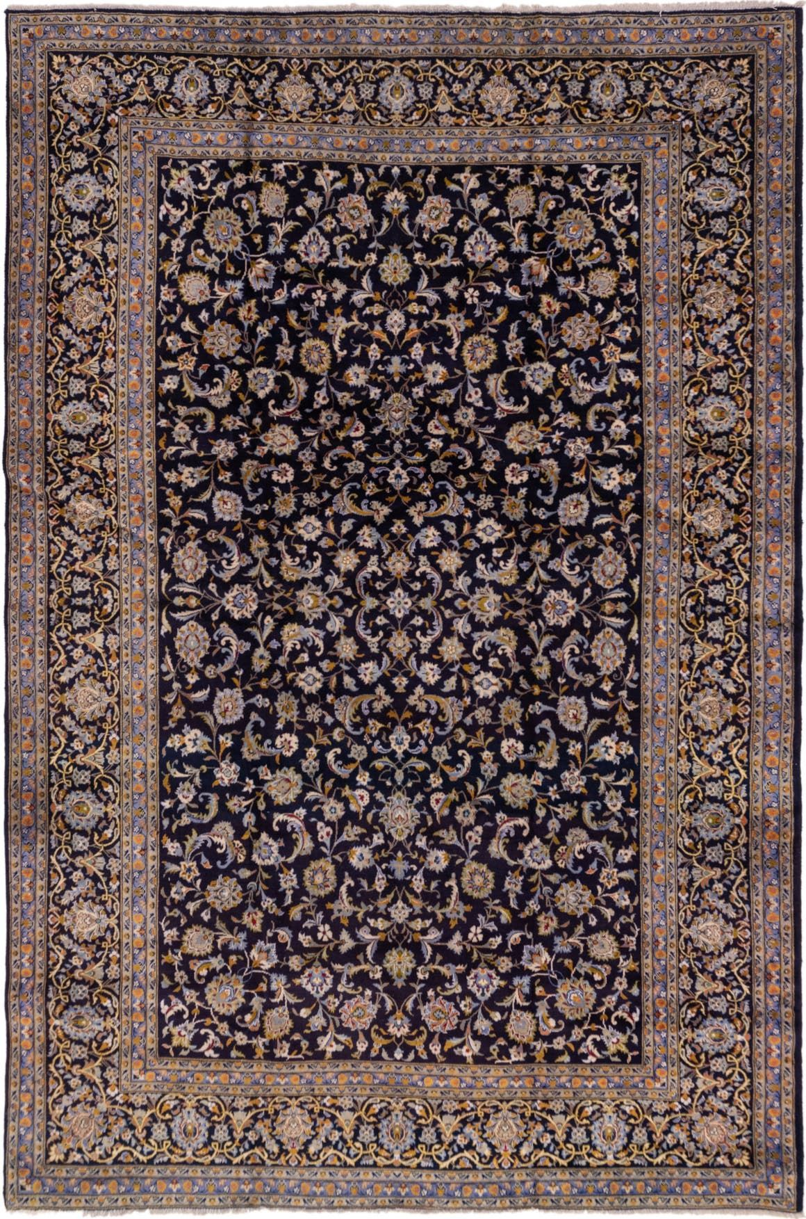 Kashan Navy Blue Antique 9x12 Large Area Rug In 2020 Rugs Large Area Rugs Persian Rug