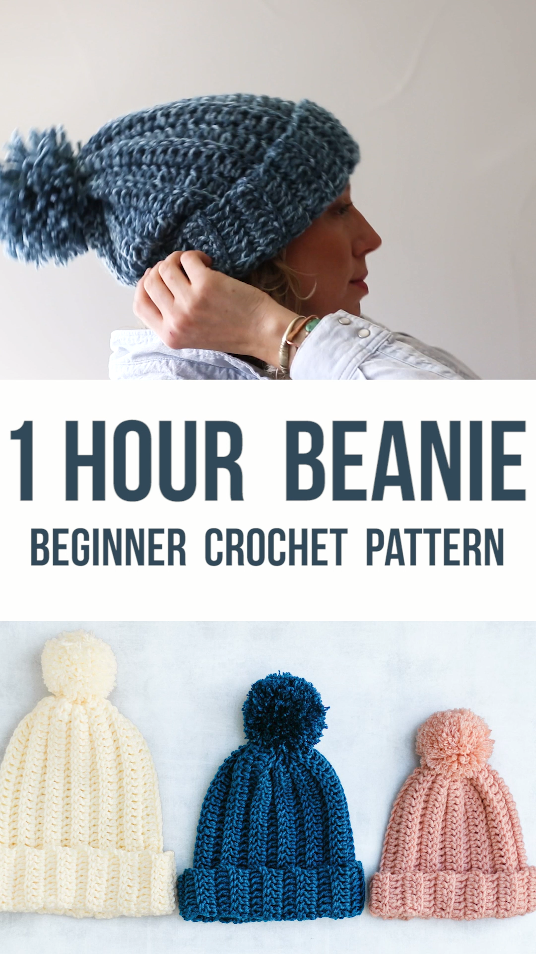 Photo of Easy Crochet Hat Free Pattern – Make This Beanie in 1 Hour!