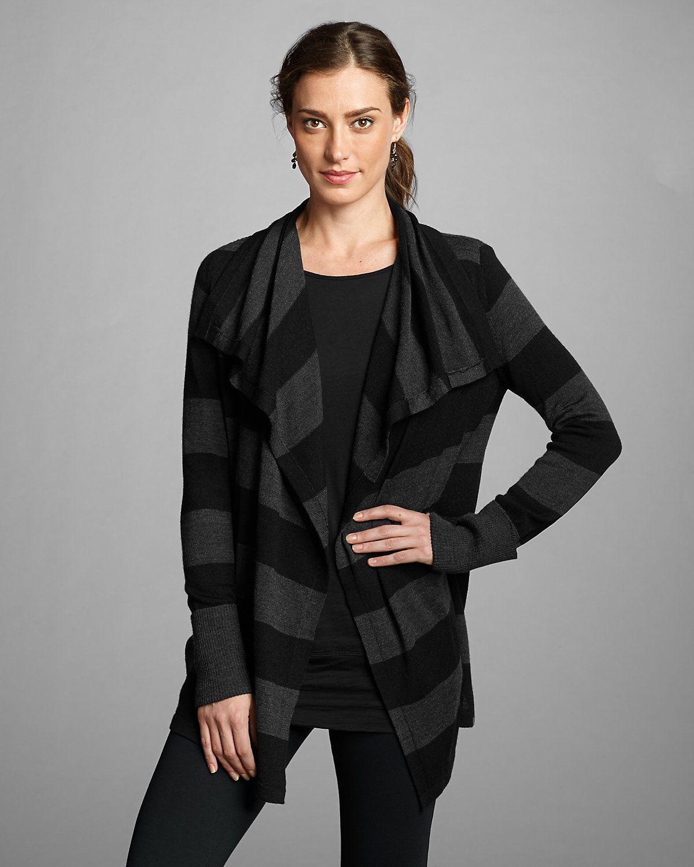Women's Drape Cardigan Sweater - Stripe   Eddie Bauer