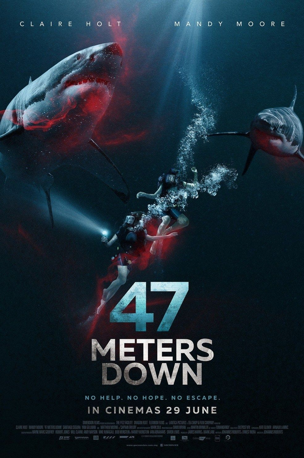 Free online poster design and download - 123 47 Meters Down 2017 Watch Full Hd Movie Free Online