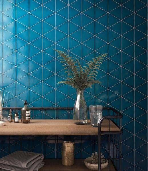 Carrelage Mural Triangle Bleu Montpellier B40 Vente De Carrelage
