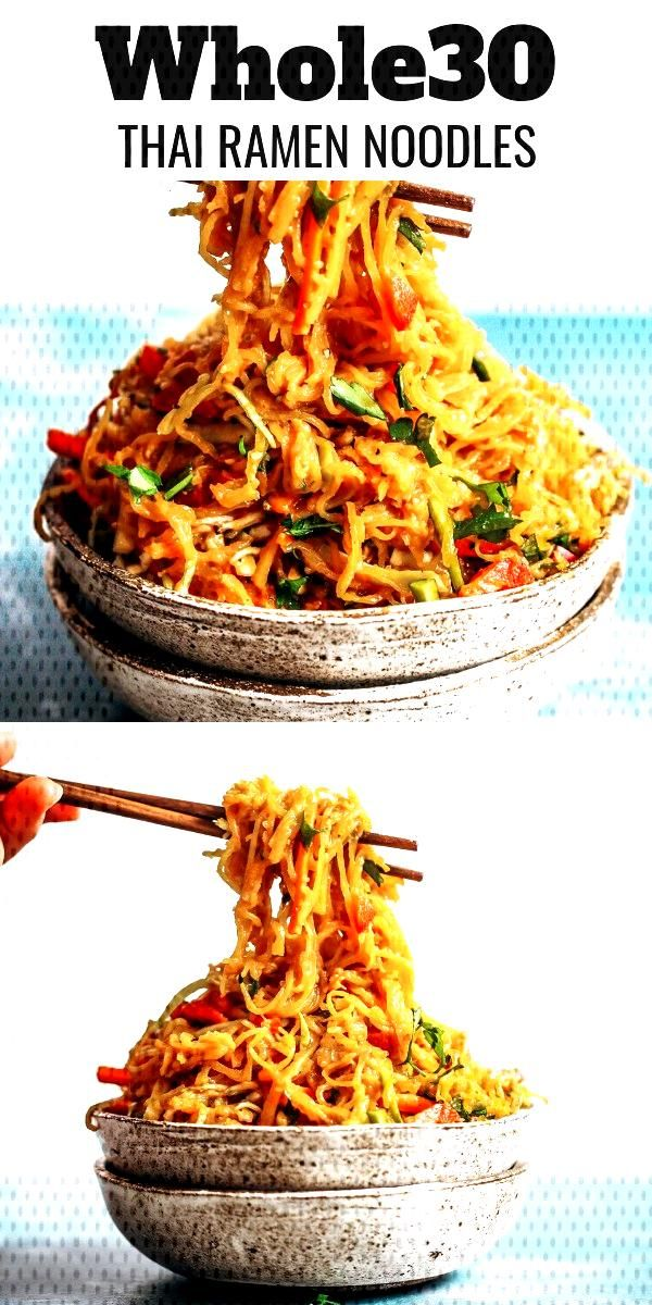 Best Asian Garlic Paleo Whole30 Noodles - Best whole30 asian garlic noodles you will ever have! Th