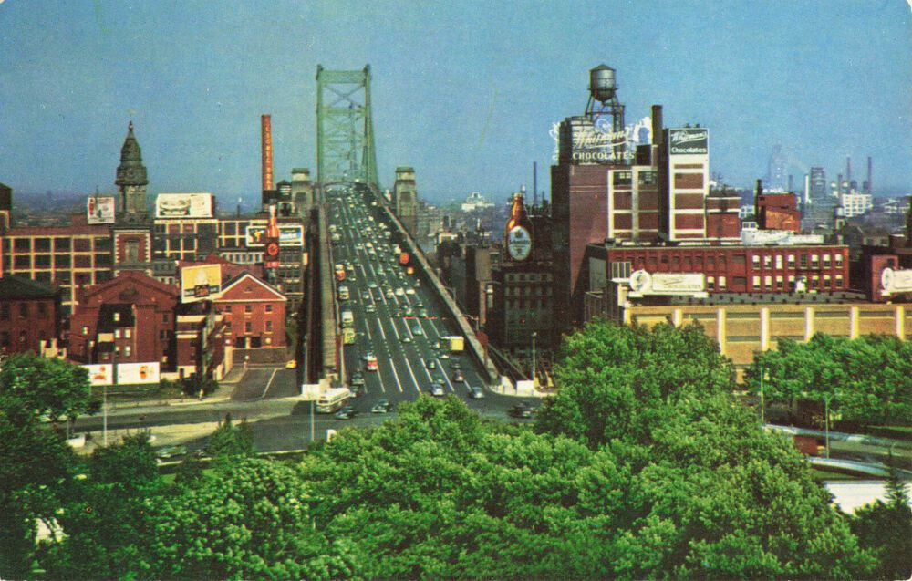 Postcard Benjamin Franklin Bridge Camden New Jersey In 2020 Camden New Jersey Newark New Jersey Camden