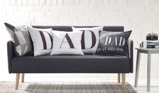 Save seating arrangement dramas this Father's Day and get him his own 'Reserved For Dad' cushion!