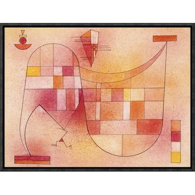 """Global Gallery 'Yellow Pink' by Wassily Kandinsky Framed Painting Print on Canvas Size: 12"""" H x 16"""" W x 1.5"""" D"""