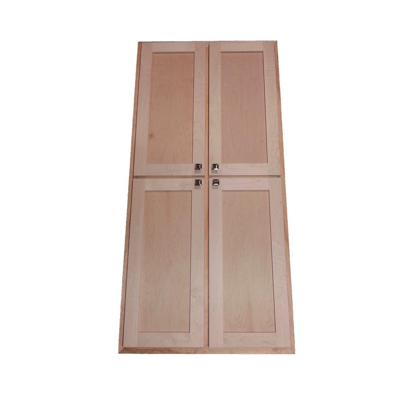 Wg Products 24 Inch Wide X 3 5 Deep Recessed Craftsman Double Door Medicine Storage Cabinet Brown