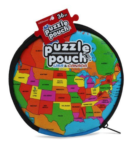 USA and CANADA Puzzle Pouch- Ages  4 and Up