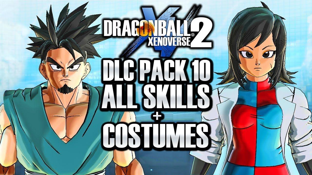 How To Get All Dlc 10 Skills Costumes Dragon Ball Xenoverse 2 Dlc Pack 10 Ultra Pack 2 Skills Dragon Ball Skills Costumes