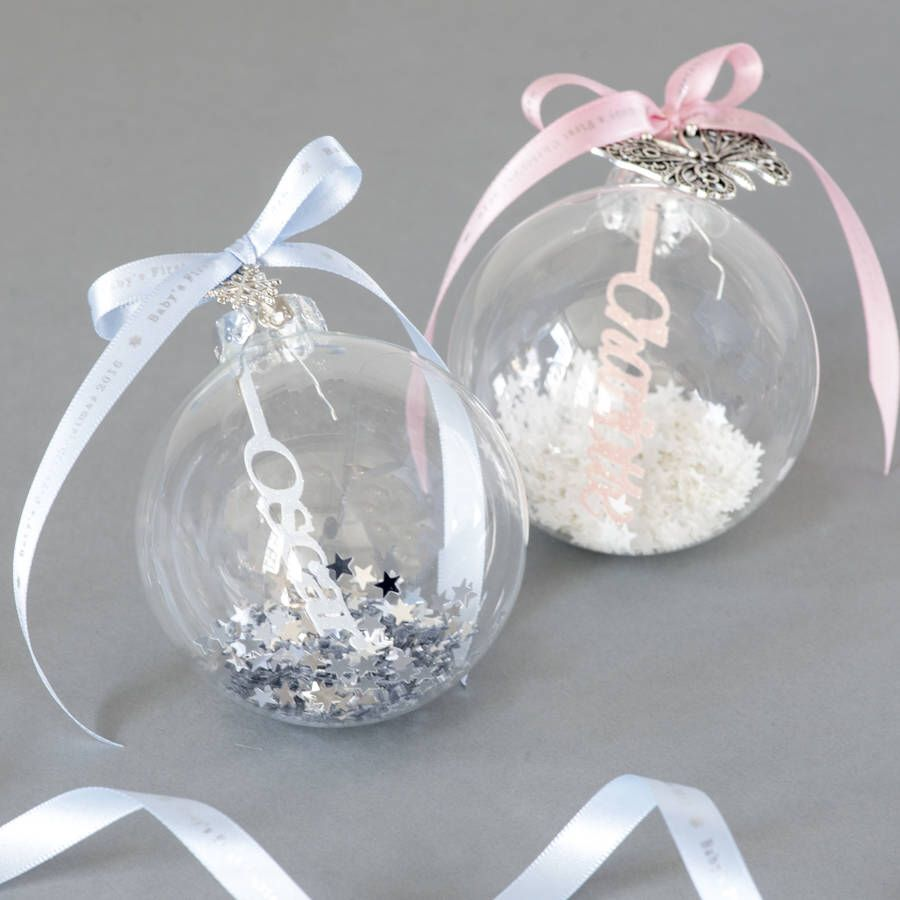 Ive Just Found Personalised Papercut Babys First Christmas Bauble A Beautiful Personalised Papercut Christmas Glass Bauble With A Pretty Charm And Ribbon