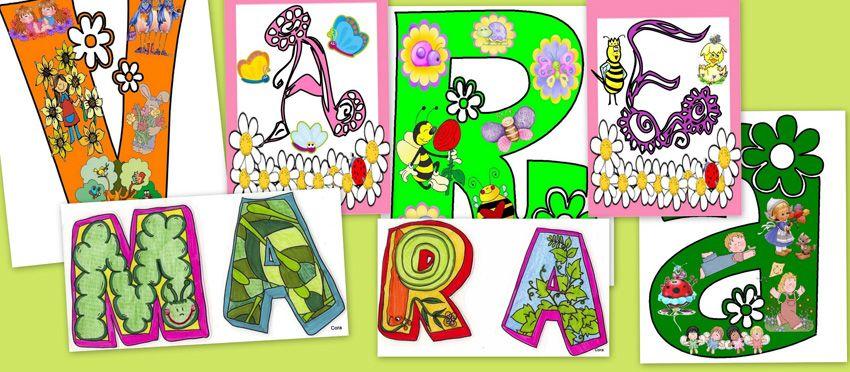 Carteles Para Decorar El Rincon De La Primavera Escuela En La Nube Primavera Cartel Formas De Letras